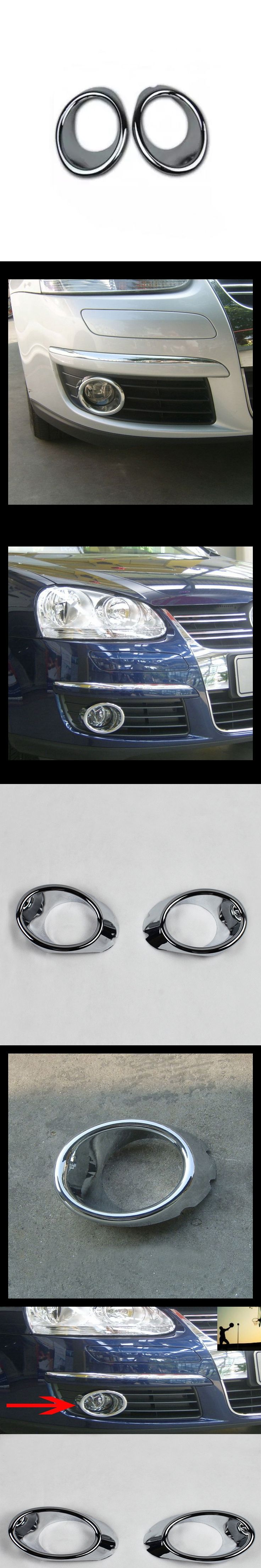 CHROME front rear fog lamps COVER TRIM For VW Vento Bora Volkswagen  Jetta MK5 A5 2005 2006 2007 2008 2009 2010 2011 car styling