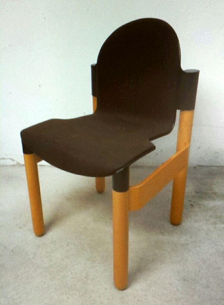 Thonet Vitra Design Stuhl Flex 2000 Gerd Lange 60er   70er Stapelstuhl