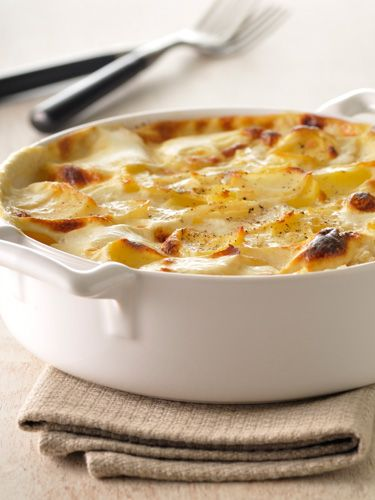 No guest can resist this cider scalloped potatoes with smoked gouda