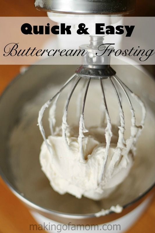 This quick and easy buttercream frosting can be your go-to recipe! It's light and fluffy and so tasty!