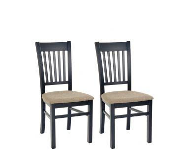 Komplet krzeseł w ciemnej kolorystyce. Nowość w ofercie mebli Forte, dostępne na stronie http://www.forte.com.pl/meble/typy/krzeslo.html