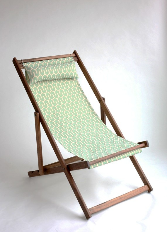 Tyhee Deckchair, with completely recycled fabric sling.
