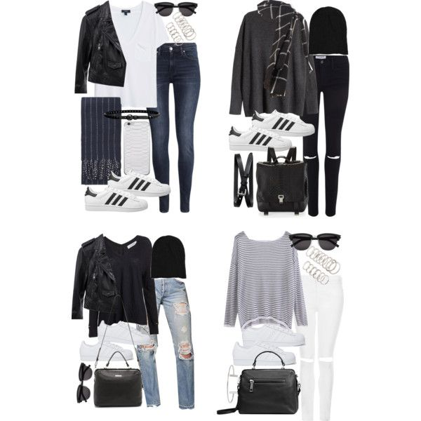 how to style superstars for fall by florencia95 on Polyvore featuring moda, H&M, MANGO, 10 Crosby Derek Lam, Linea Pelle, Topshop, Frame Denim, Urban Renewal, adidas Originals and Proenza Schouler