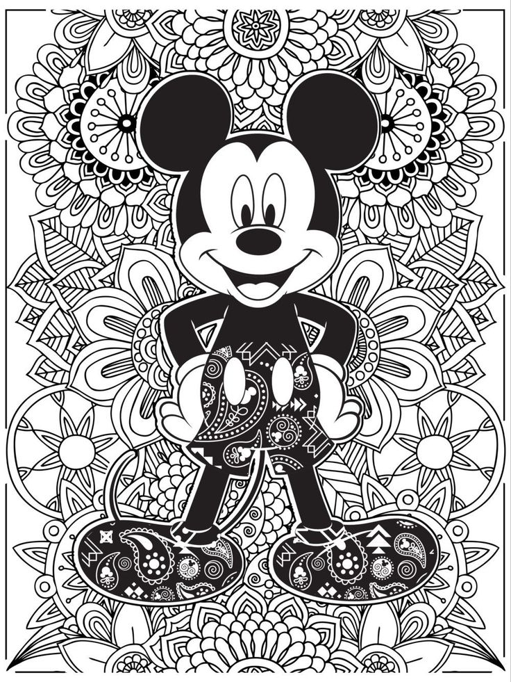 Celebrate National Coloring Book Day with Disney Style | Mickey Mouse coloring page | [ http://di.sn/6006B0K6k ]
