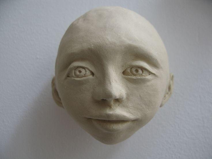 papierklei hoofdje made by Tonny Cooyman