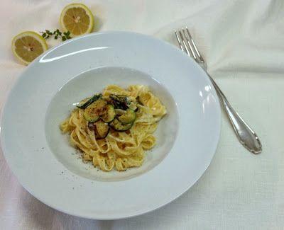 Tagliatelle con crescenza e zucchini #pasta #soulfood typical italian food www.kebohoming.blogspot.it
