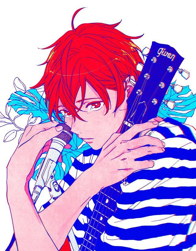 Given Illustrations Satou Mafuyu Anime Chibi Anime Fanart Anime