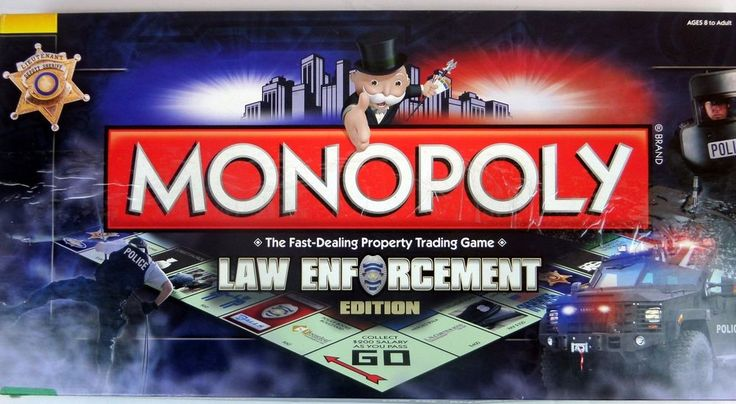 Monopoly Law Enforcement Board Game Incomplete Missing