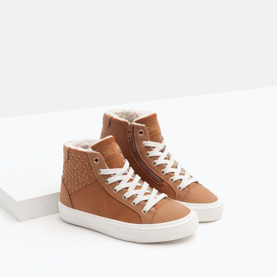 LINED HIGH-TOP SNEAKER WITH ZIP