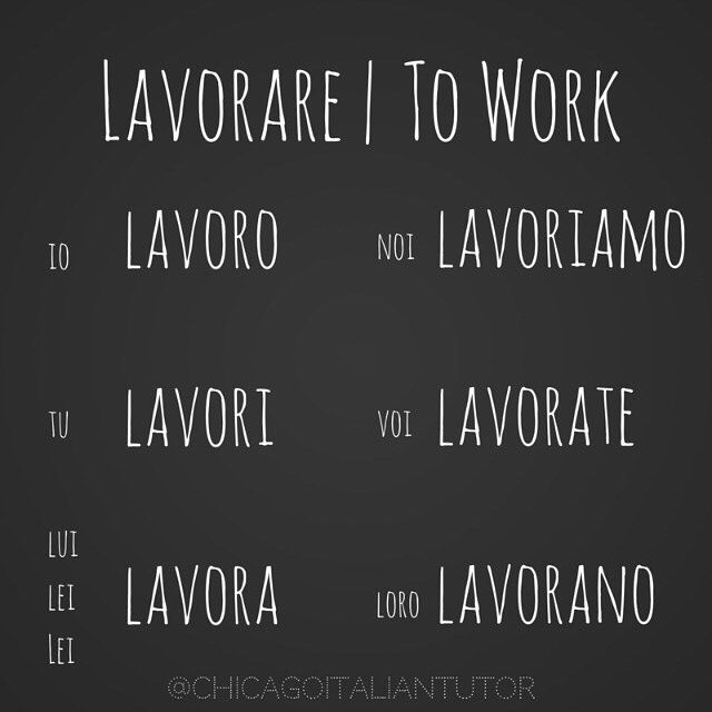 Learning Italian Language ~ lavorare | to work