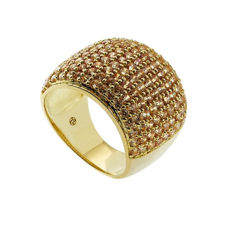Oxette Gold Silver 925 Ring with zircons - Available herehttp://www.oxette.gr/kosmimata/daktulidia/ster.silver-gold-pl.ring-champa.cz-636l-1/   #oxette #OXETTEring #jewellery