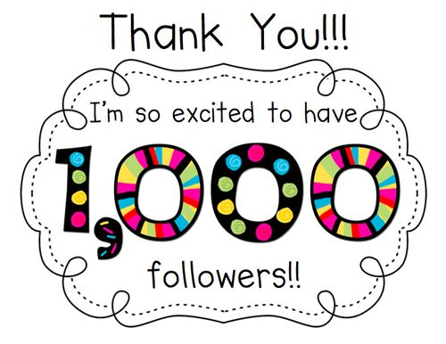 THANK YOU GUYS SO MUCH FOR 1,000 FOLLOWERS I JUST CHECK AND I AM SO HAPPY SO THANK YOU