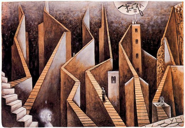 Solar, Xul (1887-1963) - 1944 Walls and Stairs (Private Collection)
