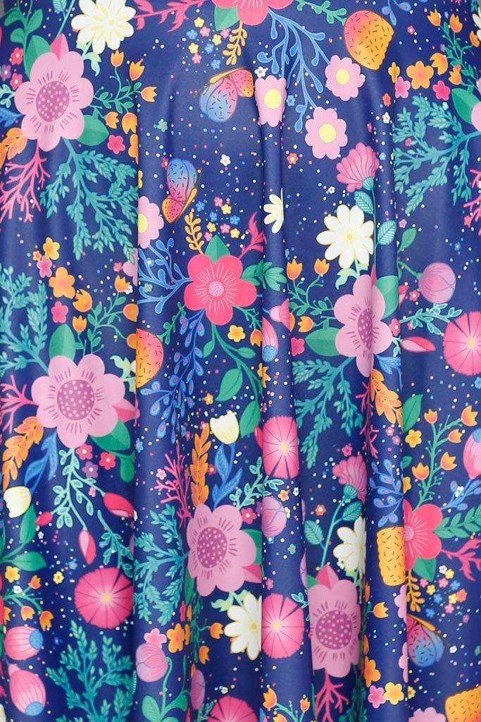 Unicorn's Garden Cap Sleeve Skater Dress (48HR)