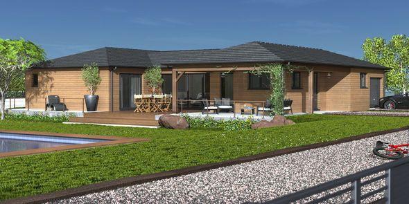 Plan maison - Une maison bois agréable à vivre/////454545143