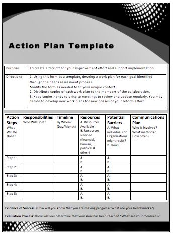 Action Plan Templates Word Prepossessing 70 Best Business Images On Pinterest  Business Planning .