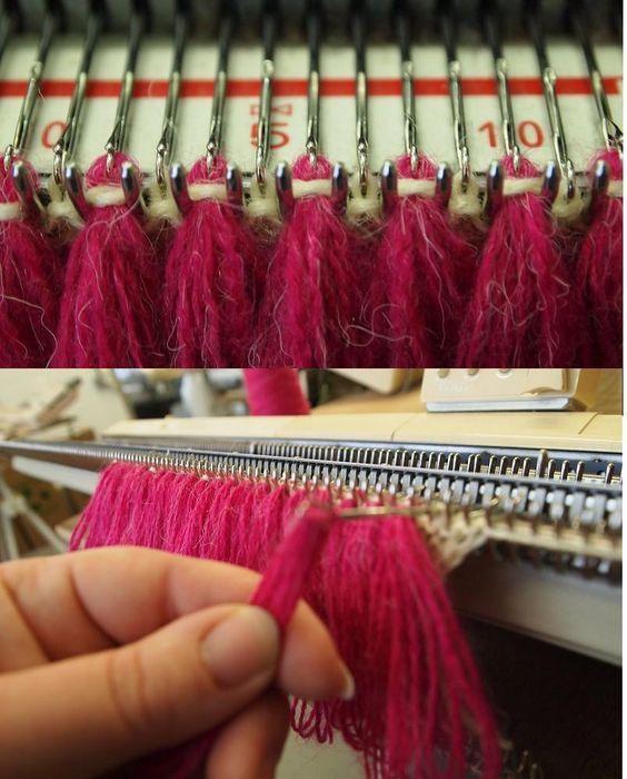 Вяжем отделку бахрому | Машинное вязание