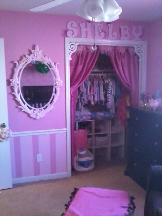 Put Beadboard Under Margos Chair Rail And Paint It Black To Go With The  Pink On. Closet CurtainsCloset DoorsThe ClosetCloset DecorationMonster High  ...
