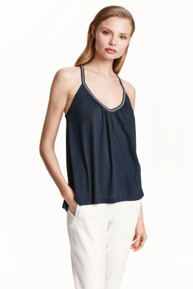 13 Beaded strappy top | H&M