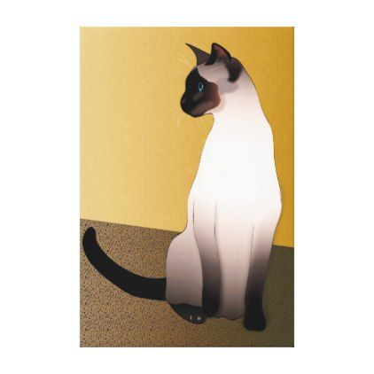 Seal Point Siamese Cat Canvas Print - portrait gifts cyo diy personalize custom
