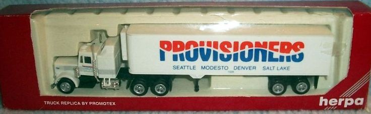 HERPA Provisioners Truck/trailer Seattle, Modesto, Denver, Salt Lake 1:87   A6 #Herpa #unknown