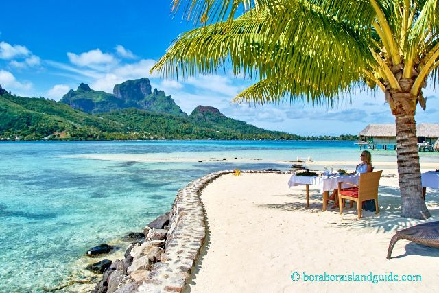 Tahiti Romantic Vacation Ideas: Sofitel Bora Bora Private Lunch