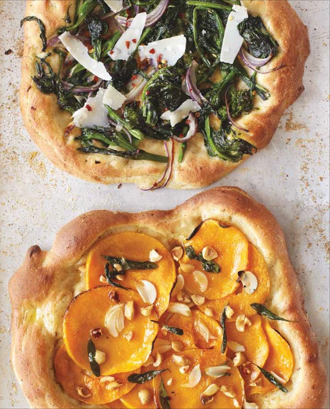 Broccoli Rabe Pizza with Hazelnut Dough and Butternut Squash Pizza ...
