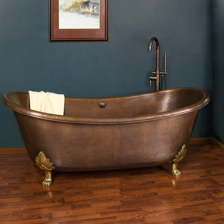 71  Hadley Copper Double Slipper Tub   Cast Brass Feet. Best 25  Copper tub ideas on Pinterest   Copper mountain lodging