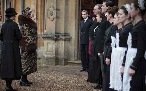 Shirley MacLaine as Martha Levinson (2nd left) in the new series of the award-winning Downton Abbey. She plays Lady Grantham's mother.