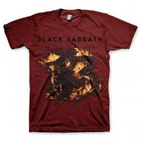 Official Black Sabbath 13 maroon shirt from www.HeavyMetalMerchant.com