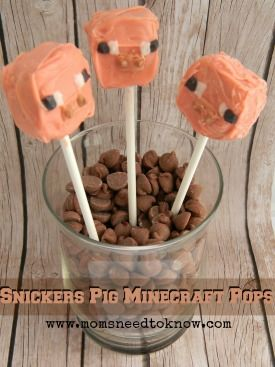 Minecraft Pig Pops | Minecraft Party Ideas