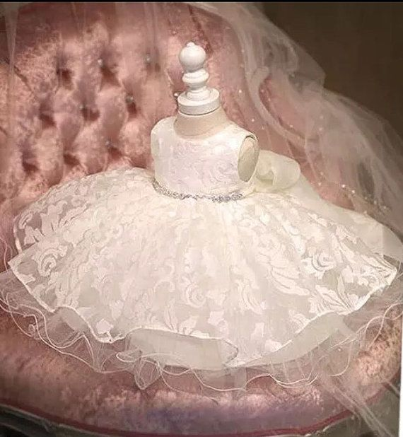 Girl Christening Dress by ItsyBitsyCraftCo on Etsy