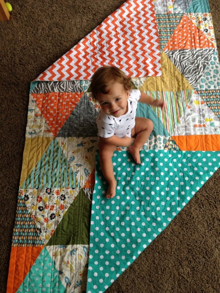 triangle quilt how-to - fun twist on a quilt