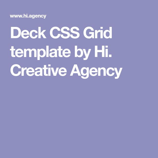 25 beste ideen over css grid op pinterest dashboard ui deck css grid template by hi creative agency malvernweather Choice Image