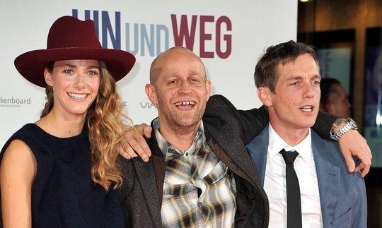 """Miriam Stein, Juergen Vogel und Volker Bruch die Schauspieler bei der """"Hin und Weg."""""""