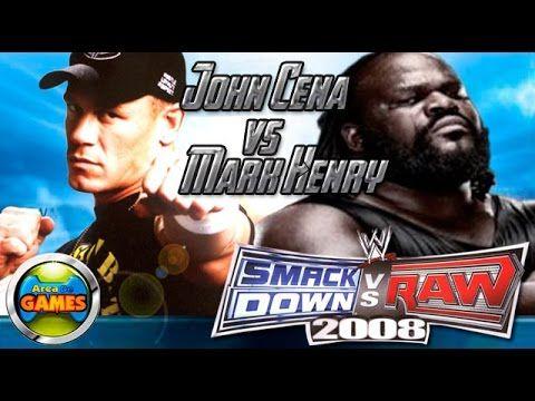 John Cena vs Mark Henry Smackdown Vs. Raw 2008 PS2
