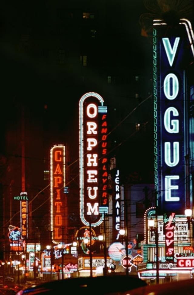 Neon Lights In City