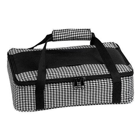 This casserole carrier is easy to make using two pieces of fabric that cross in the middle. The carrier is lined using Insul-brite which will keep your dis