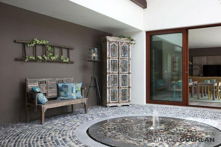 Dise o de jardines 6 fuentes modernas patios - Fuentes para terraza ...