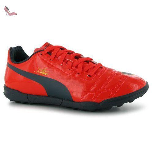 Puma evoPOWER 4 pour gazon-Junior Astro Chaussures de Sport Baskets à lacets - Orange  - Peach/Blue, 38 EU - Chaussures puma (*Partner-Link)