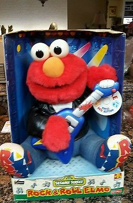 RARE Rock & Roll Elmo doll, by Fisher Price in 1998, Brand New still in the box