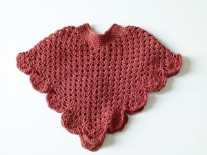 Free Crochet Pattern 70367AD Child 'Coming Home' Poncho : Lion Brand Yarn Company
