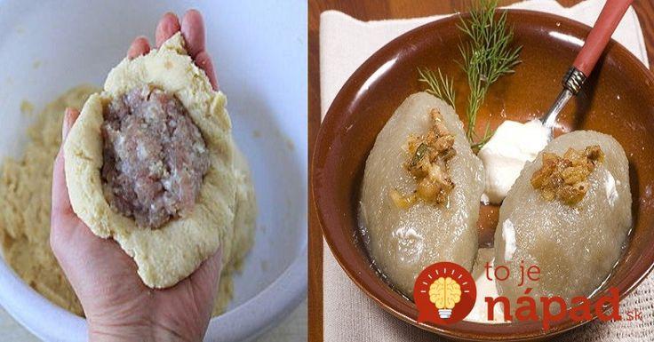 Vynikajúce domáce knedle na slano. Ochutnajte fantastické spojenie zemiakového cesta a mäsovej náplne!