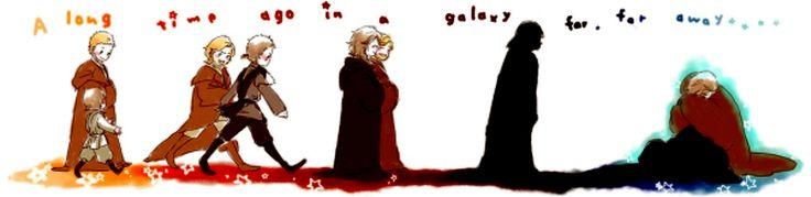 """Star Wars - Obi-Wan and Anakin...""""This fan art is great, but heartbreaking. Love it."""""""
