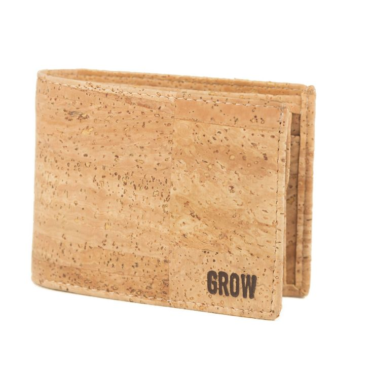 Mens wallet, Cork wallet, FREE SHIPPING, Vegan wallet, eco wallet, Vegan Product, gift for him, Green Products, cork, Liege, Kork, gift by GrowFromNature on Etsy