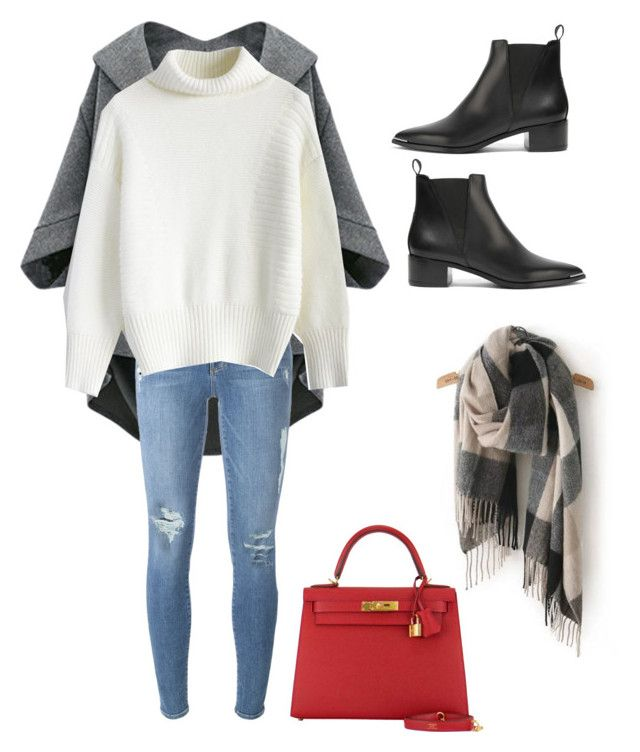 Winter.15 by esther-chiu-1 on Polyvore featuring polyvore, fashion, style, Chicwish, Frame Denim, Acne Studios, Hermès and clothing