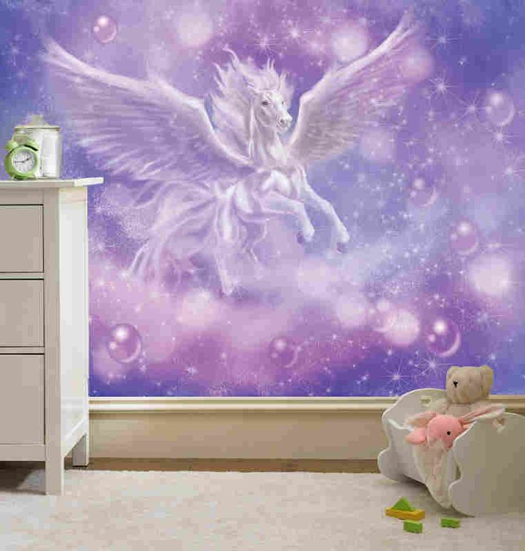 17 best images about unicorn mural amys room on for Chambre unicorn
