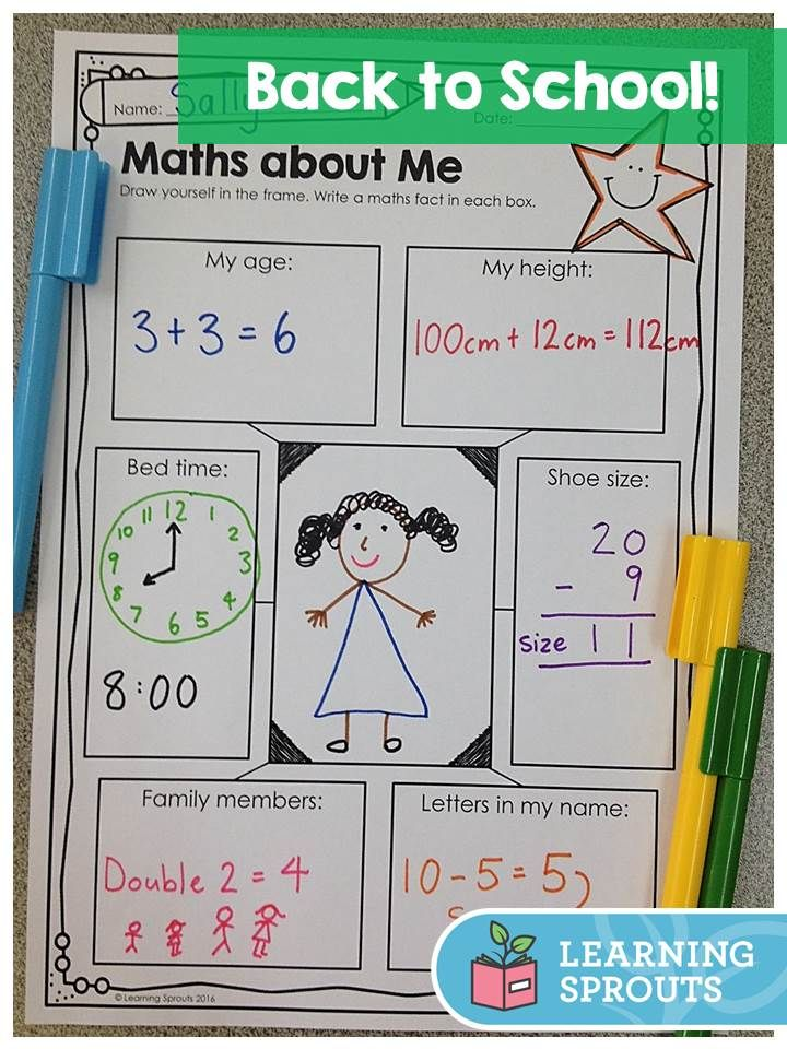 Mathematics about Me activity. Could be adapted to many different ability levels.