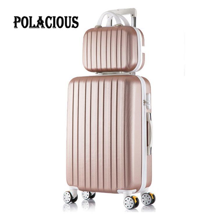 """20 """"24"""" 26 """"inch Baru stripe bagasi set koper 20"""" asrama, 10 Warna roda yang universal troli permen, kotak travel untuk slide, kotak"""