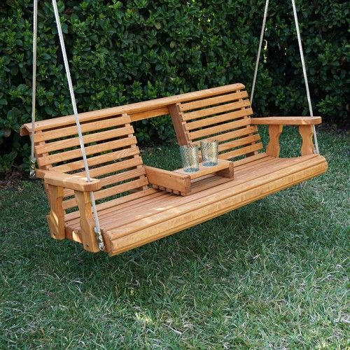 hanging porch swing porchgate amish heavy duty 700 lb rollback console treated 10905